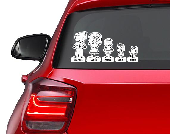 Pegatina familia para coche pegatina familia for Pegatinas para coches