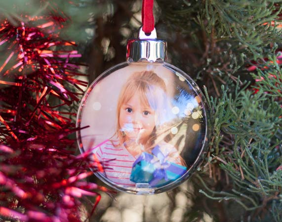 Bolas Para El Arbol De Navidad Personalizada - Bolas-de-navidad-transparentes