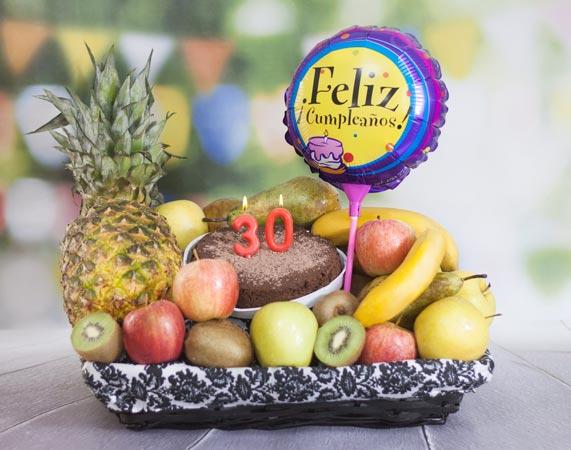 Cesta De Fruta Cumpleaños
