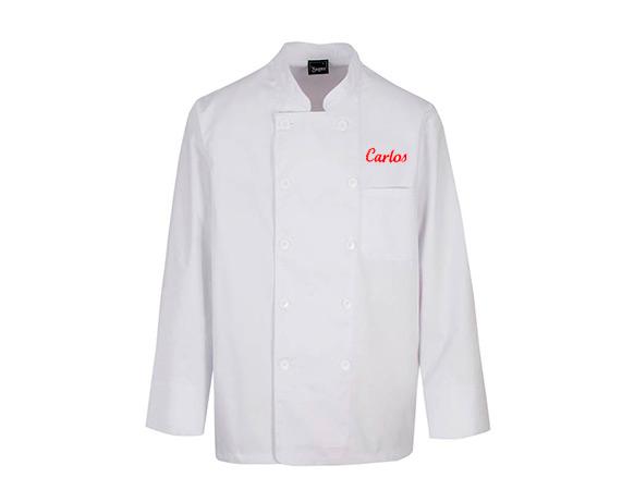 Chaqueta de cocinero personalizada manga corta chaqueta for Chaquetas de cocina originales