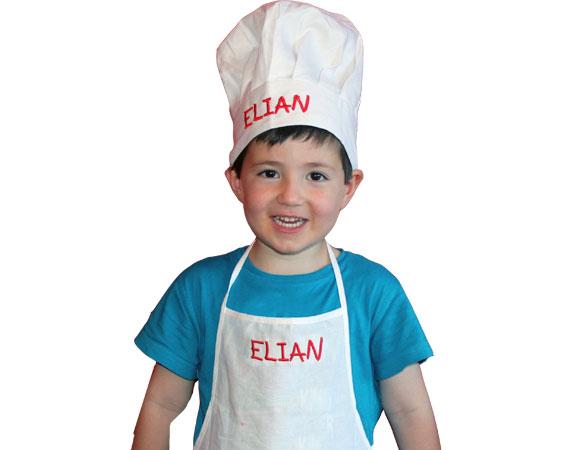Genial delantales y gorros de cocina para ni os galer a de - Delantal masterchef personalizado ...