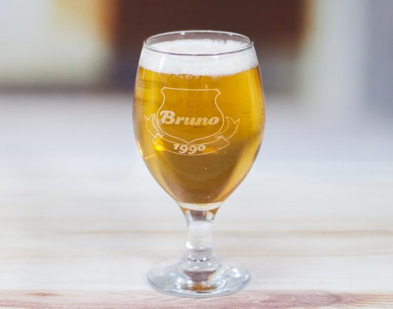 Copa de cerveza grabada con escudo regalo original for Copa cerveza