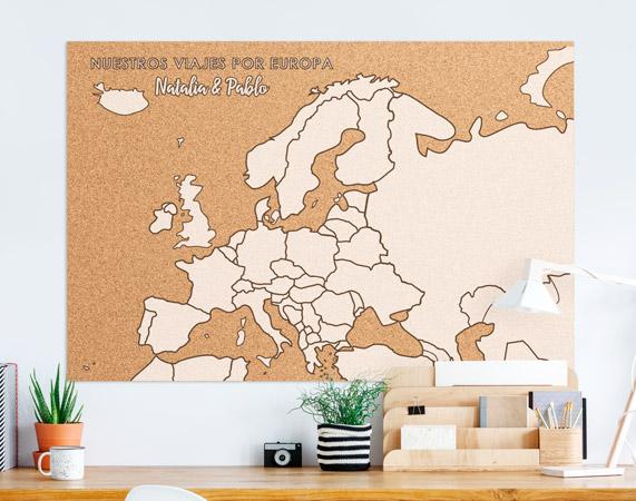 Corcho mapa de europa regalo original - Mapa de corcho ...