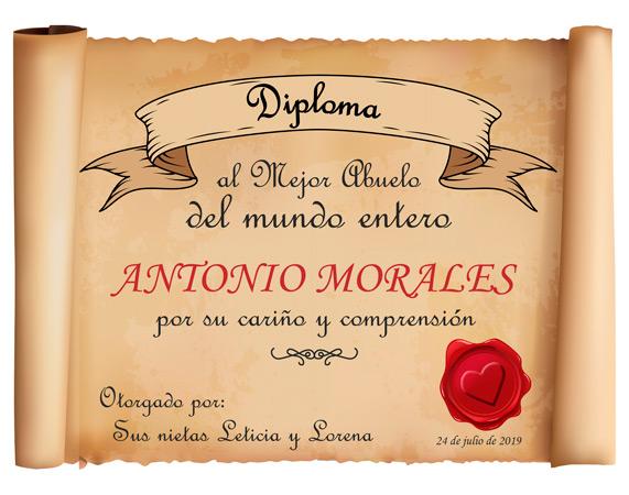 645c4a36110 Diploma personalizado