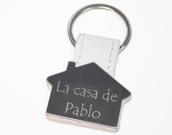 Porte-clés gravé conception maison 750e69947b6