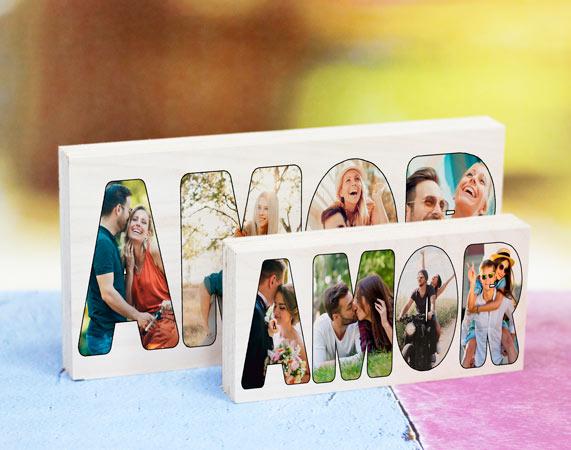 Madera amor personalizada regalo original - Que le puedo regalar a mi padre ...