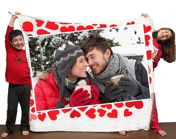 Manta personalizada San Valentín
