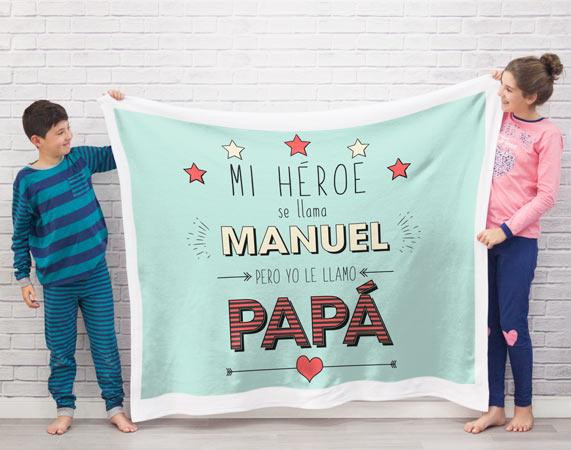 Manta Mi Héroe Es Tu Papá Regalo Original