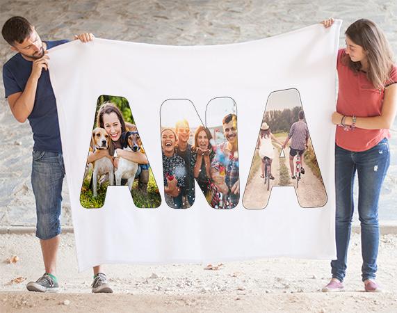 Manta letras con foto regalo original - Mantas con fotos ...