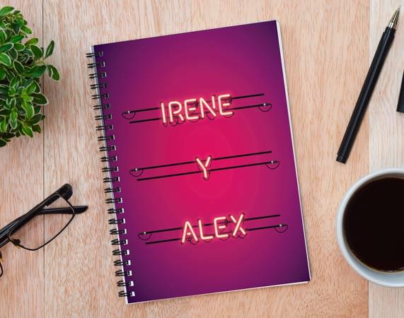 Cuaderno personalizado Luces de neón