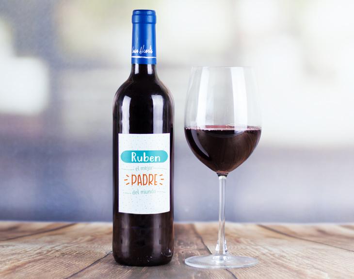 Bouteille de vin personnalisée Le roi de la maison (ave