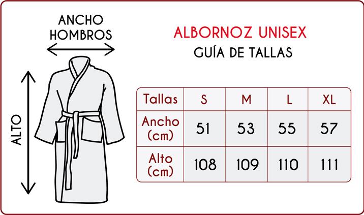 TEJIDOS EL MUNDO Albornoz Talla Adulto Barcelona